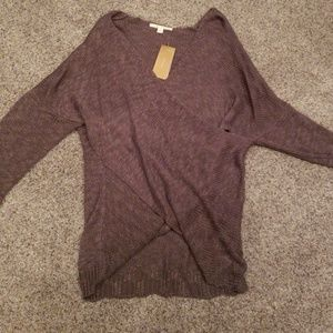 Gorgeous scoop side over sweater NWT